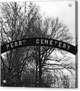 Perry Cemetery Acrylic Print