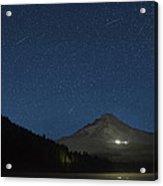 Perseid Meteor Shower At Trillium Lake 2013 Acrylic Print