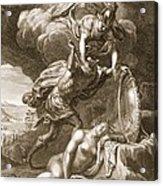 Perseus Cuts Off Medusas Head, 1731 Acrylic Print