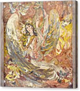 Persian Lady Playing Chang Acrylic Print