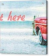 Free Personalized Custom Beach Art Acrylic Print
