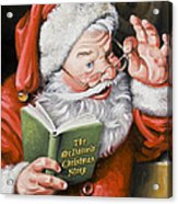 Personalized Santa Painting....instructions Are On Lower Right Side Of This Page. Acrylic Print