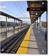 Perspective From The Series The Elements And Principles Of Art-- One Point Rail Acrylic Print