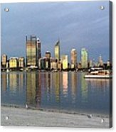 Perth By Sunset  Acrylic Print