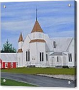 Peru Congregational Church Acrylic Print