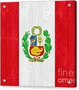 Peru Flag Acrylic Print