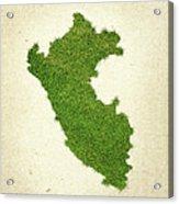 Peru Grass Map Acrylic Print by Aged Pixel