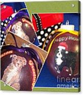 Pet Christmas Tree Ornaments Acrylic Print