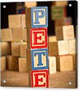 Pete - Alphabet Blocks Acrylic Print