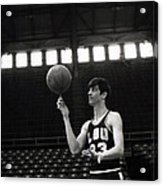 Pete Maravich Spinning Ball On Finger Acrylic Print by Retro Images Archive