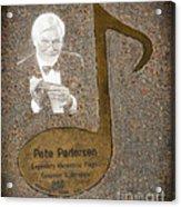 Pete Pedersen Note Acrylic Print