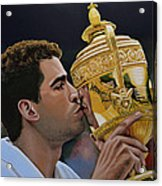 Pete Sampras Acrylic Print by Paul Meijering
