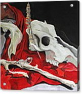Pete The Skull Acrylic Print by Kip Krause