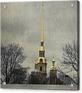 Peter And Paul Fortress Acrylic Print by Elena Nosyreva