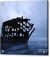 Peter Iredale Shipwreck Oregon 3 Acrylic Print