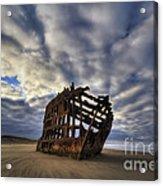 Peter Iredale Shipwreck Sunrise Acrylic Print