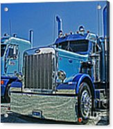 Peterbilt And Frieghtliner Acrylic Print