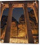 Petra Inside The Temple Acrylic Print