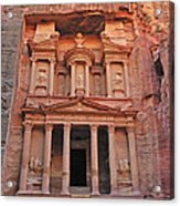 Petra Treasury Acrylic Print by Tony Beck