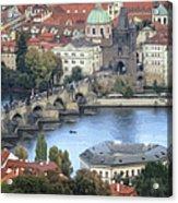 Petrin View Acrylic Print by Joan Carroll
