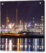 Petrochemical Plant In Night  Acrylic Print