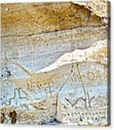 Petroglyphs At Petroglyph Point In Lava Beds Nmon-ca Acrylic Print