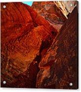 Petroglyphs Valley Of Fire Nevada Acrylic Print