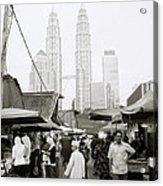 Petronas Over Kampung Baru Acrylic Print