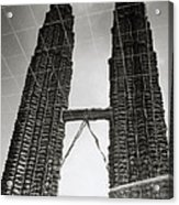Petronas Towers Reflection Acrylic Print