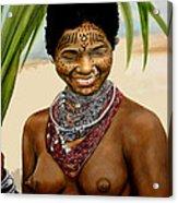 Peul  Princess Of Mali Acrylic Print