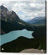 Peyote Lake In Banff Alberta Acrylic Print