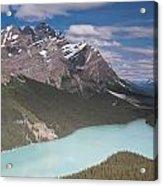 Peyto Lake And Caldron Peak Acrylic Print