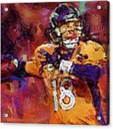 Peyton Manning Abstract 2 Acrylic Print by David G Paul