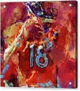 Peyton Manning Abstract 3 Acrylic Print by David G Paul