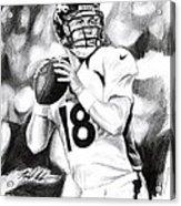 Peyton Manning Acrylic Print