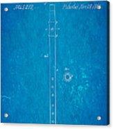 Pfaff Fife Patent Art 1864 Blueprint Acrylic Print