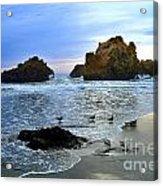 Pfeiffer Beach Big Sur Twilight Acrylic Print