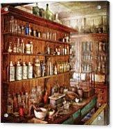 Pharmacist - Behind The Scenes  Acrylic Print by Mike Savad