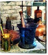 Pharmacist - Three Mortar And Pestles Acrylic Print by Susan Savad