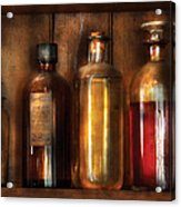 Pharmacist - Various Elixirs  Acrylic Print by Mike Savad
