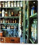 Pharmacy - Back Room Of Drug Store Acrylic Print