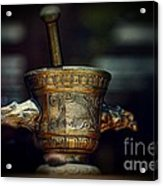 Pharmacy Brass Mortar And Pestle With Eagle Handles Acrylic Print