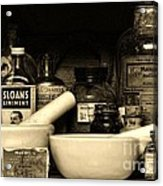 Pharmacy - Cod Liver Oil And More Acrylic Print