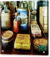 Pharmacy - Cough Remedies And Tooth Powder Acrylic Print