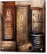 Pharmacy - Cures For The Bowels Acrylic Print