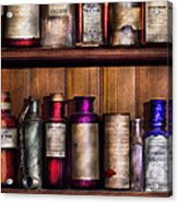 Pharmacy - Ingredients Of Medicine  Acrylic Print by Mike Savad