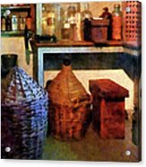 Pharmacy - Medicine Bottles And Baskets Acrylic Print