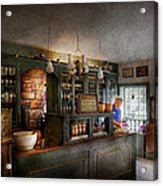 Pharmacy - Morning Preparations Acrylic Print by Mike Savad