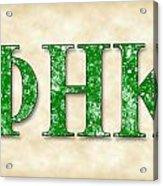 Phi Eta Kappa - Parchment Acrylic Print