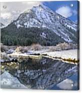Phi Kappa Mountain Reflected In River Acrylic Print